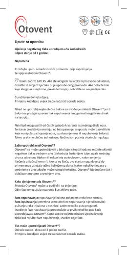 upute Otovent ® u PDF obliku