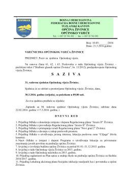 saziva - Općina Živinice