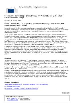 Sporazum o stabilizaciji i pridruživanju (SSP) između