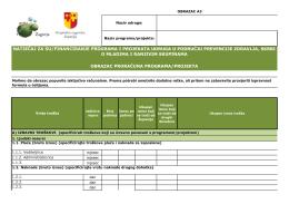 Obrazac proračuna