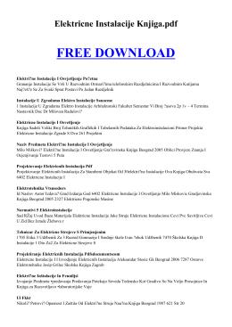 elektricne instalacije knjiga pdf