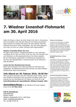 Innenhof-Flohmarkt Aussendung