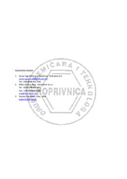 Tel. +385(0)48 651 926 2. Milica