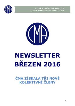 newsletter březen 2016 - Česká manažerská asociace