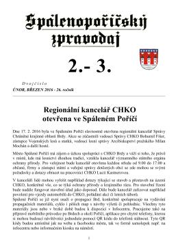 Spálenopoříčský zpravodaj 2-3/2016