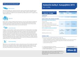 Asistenční služby k Autopojištění 2015