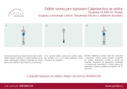 Odběr vzorku pro stanovení Calprotectinu ze stolice