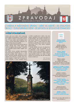 Zpravodaj města Bělá pod Bezdězem 4/2016