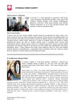 Stránka farní charity – tisková verze PDF
