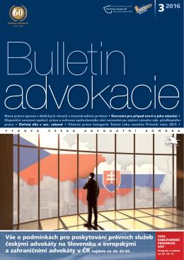 2016 - Česká advokátní komora