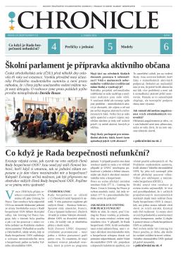Noviny Chronicle – 8. číslo XXI. ročníku