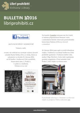 Bulletin 2016/03 - Libri prohibiti