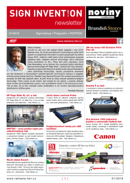 Newsletter 01/16 - Reklama Polygraf