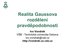 Gaussovo rozdělení