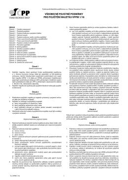 všeobecné pojistné podmínky pro pojištění majetku vppm 1/16