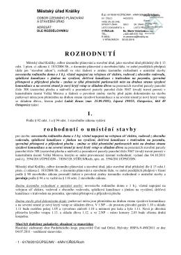 změna ÚR a SP p Kraus Dolní Morava