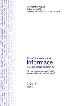 Finanční a ekonomické informace 03/2016 PDF