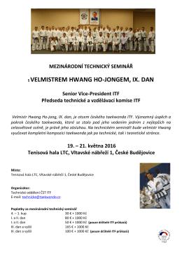 Propozice - Český svaz Taekwon