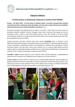 Lesnický výzkum se představuje veřejnosti na veletrhu Silva Regina