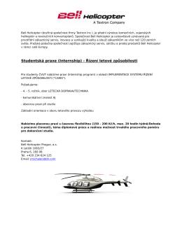 implementace systému řízení letové způsobilosti