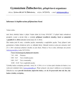 Gymnázium Židlochovice, příspěvková organizace