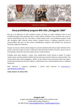 """Nový prohlídkový program Bílé věže """"Königgrätz 1866"""""""