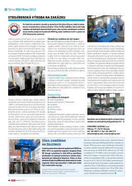 Techmagazín 2012 - Strojírny Olšovec