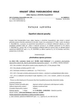 opatření 1.4. - Lázně Bohdaneč