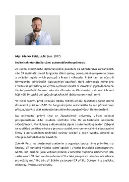 Mgr. Zdeněk Petzl, LL.M. - Sdružení automobilového průmyslu