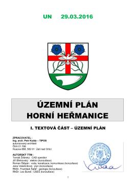 ÚP HH UN ÚP - Horní Heřmanice