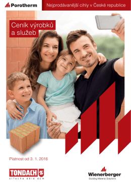 Ceník výrobků a služeb Porotherm