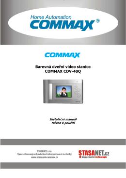 Barevná dveřní video stanice COMMAX CDV-40Q