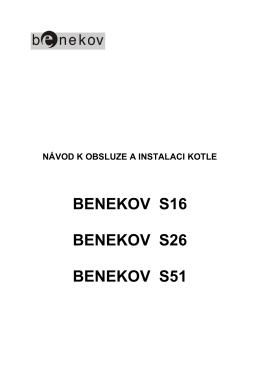 Návod k obsluze Benekov S16, S26, S51