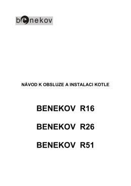 Návod k obsluze Benekov R16, R26, R51