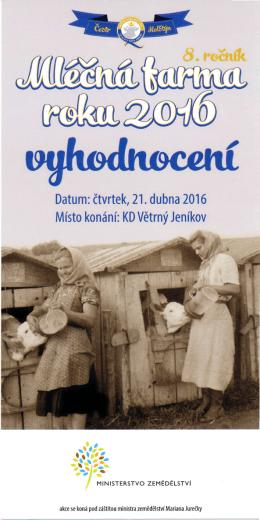 Datum: čtvrtek, 21. dubna 2016 Místo konání: KD Větrný Jeníkov