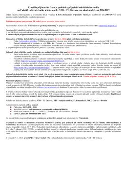 (Bc.) - 1. kolo - zkrácené přijímací řízení pro nový program