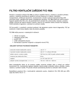 FILTRO-VENTILAČNÍ ZAŘÍZENÍ FVZ-98M
