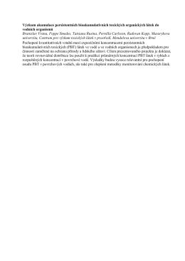 Výzkum akumulace persistentních bioakumulativních toxických