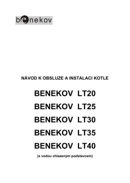 Návod k obsluze Benekov LT