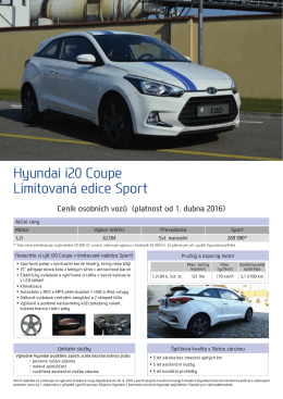 Hyundai i20 Coupe Limitovaná edice Sport