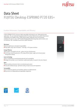 Data Sheet FUJITSU Desktop ESPRIMO P720 E85+
