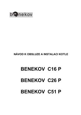 Návod k obsluze Benekov C16 P, C26 P, C51 P