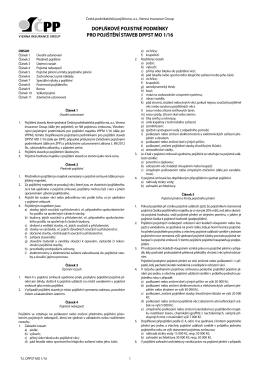 doplňkové pojistné podmínky pro pojištění staveb dppst mo 1/16