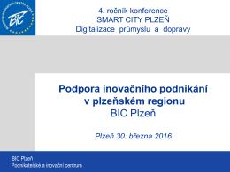 Podpora inovačního podnikání v plzeňském regionu - Top