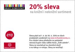 20% sleva - Svět odměn