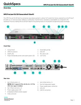 HPE ProLiant DL120 Generation9 (Gen9)