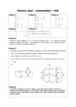 Domácí úkol – matematika – 1CD