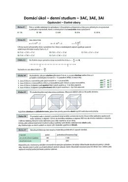 Domácí úkol – denní studium – 3AC, 3AE, 3AI