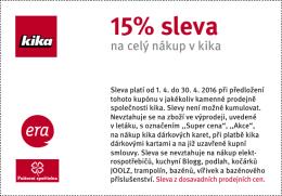 15% sleva