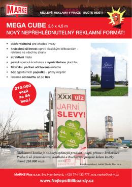 MEGA CUBE - Nejlepší billboardy v Praze